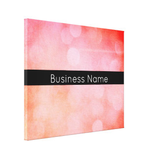 Colourful, Grunge Bokeh Lights with Business Name Canvas Print