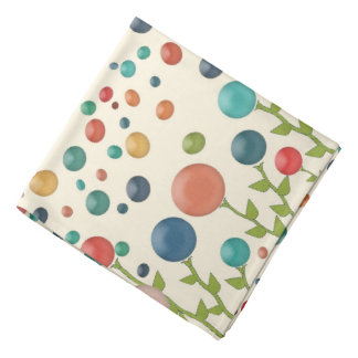 Colourful Gum Drop Garden Pattern Bandana