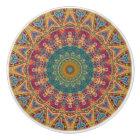 Colourful Gypsy Boho Chic Mandala Ceramic Knob