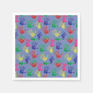 Colourful hand printed ,Paper Napkin .