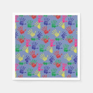 Colourful hand printed ,Paper Napkin . Disposable Napkin