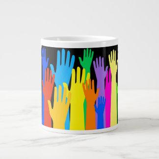 Colourful Hands Jumbo Mug