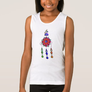 colourful hanging flowers tank top