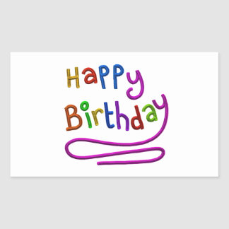 Colourful Happy Birthday Greeting Sticker