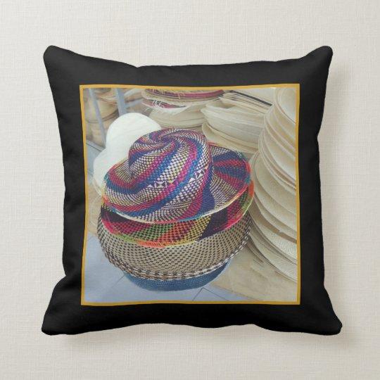 Colourful Hats from Ecuador Throw Pillow