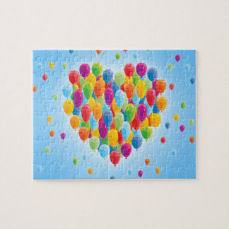 Colourful Heart Balloons Puzzle