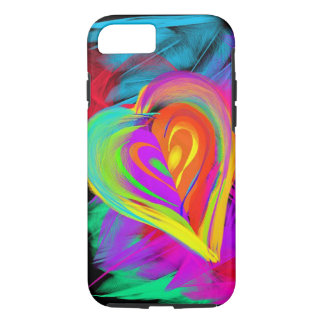 Colourful Heart Doodle iPhone 7 Case
