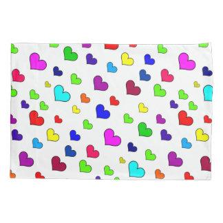 Colourful Heart Pattern Pillowcase