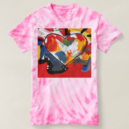 Colourful heart Women's Cyclone Tie-Dye T-Shirt