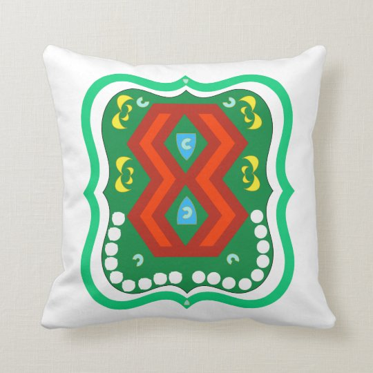 Colourful Heritage Throw Pillow