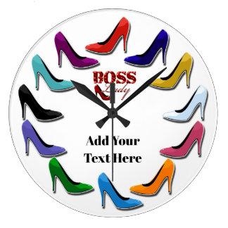 Colourful High Heel Shoe Wall Clock