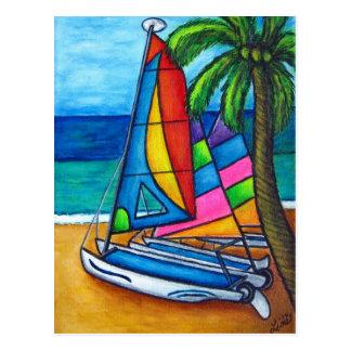 Colourful Hobby Postcard