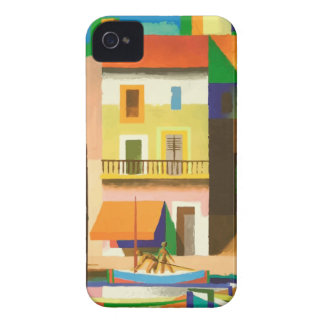Colourful holiday scene iPhone 4 cover