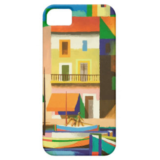 Colourful holiday scene iPhone 5 cover