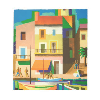 Colourful holiday scene notepad