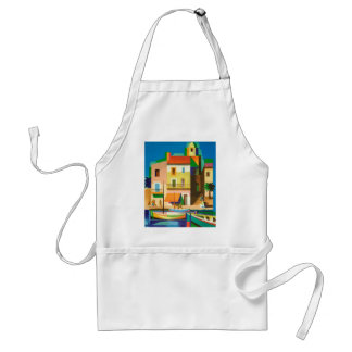 Colourful holiday scene standard apron