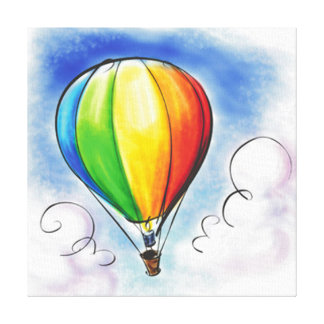 Colourful Hot air Balloon paint canvas