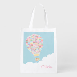 Colourful Hot Air Balloon Reusable Bag