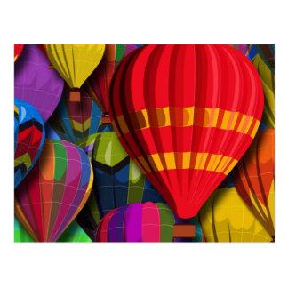 Colourful Hot Air Balloons Postcard