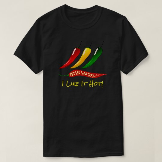 "Colourful Hot Peppers & ""I Like It Hot"" T-Shirt"