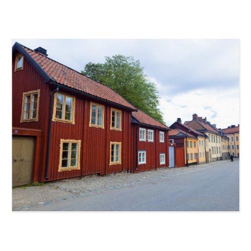 colourful houses lotsgatan s dermalm stockholm