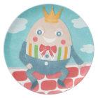 Colourful Humpty Dumpty Baby Shower Keepsake Plate