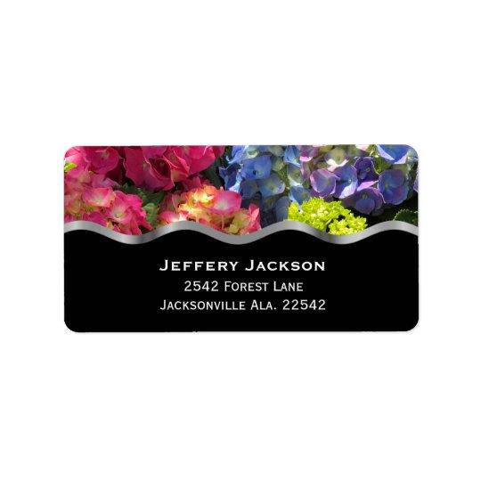 Colourful Hydrangea Address Labels