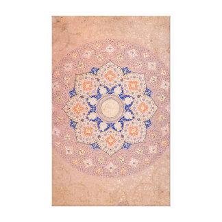 Colourful Illuminated Shamsa India Canvas Print
