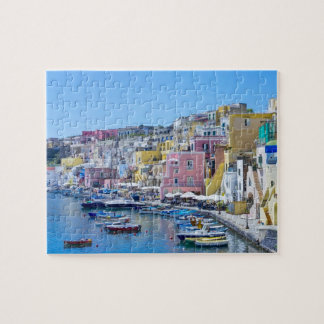 Colourful Italy Fishing Harbour Jigsaw Puzzle