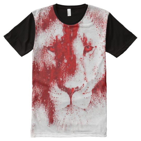 Colourful Jesus Lion Religious Art All-Over-Print T-Shirt