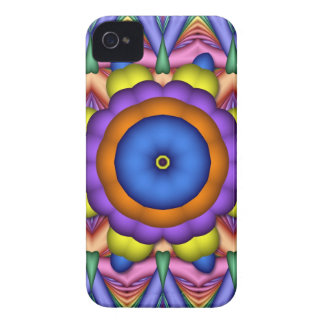 Colourful Kaleidoscope Flower iPhone 4 case