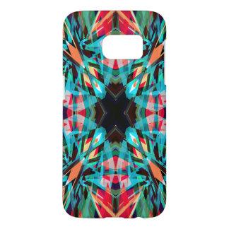 Colourful kaleidoscope pattern samsung galaxy s7 case