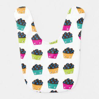Colourful Kawaii Muffins Baby Bib