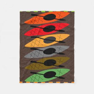 Colourful Kayaker Fleece Blanket