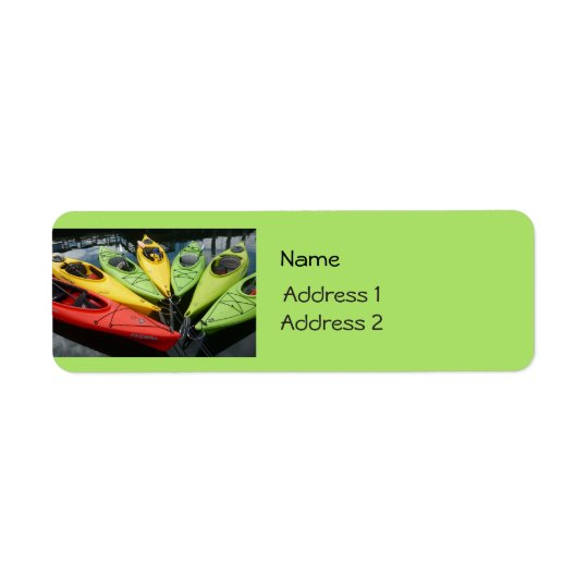 Colourful Kayaks Return Address Label