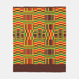 Colourful Kente Fleece Blanket