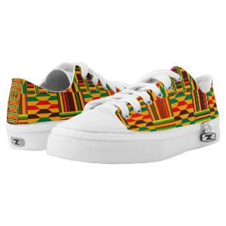 Colourful Kente Low-Top Sneakers