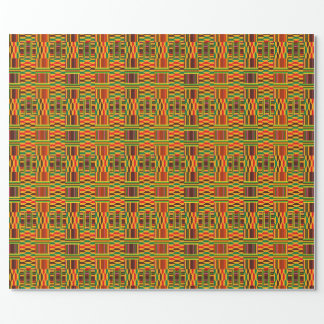 Colourful Kente Wrapping Paper