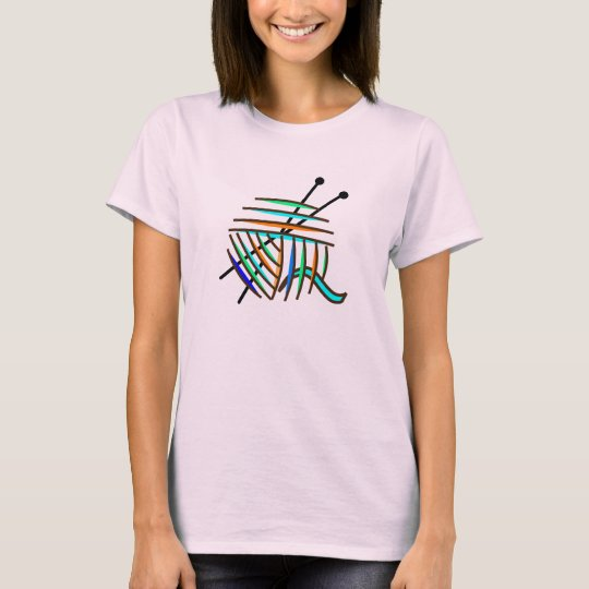 Colourful Knitting Needles and Yarn T-Shirt