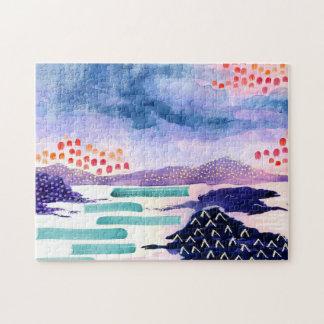 Colourful Landscape Painting Jigsaw Puzzle