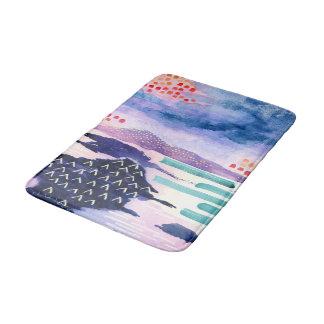 Colourful Landscape Scottish Watercolour Bathmat