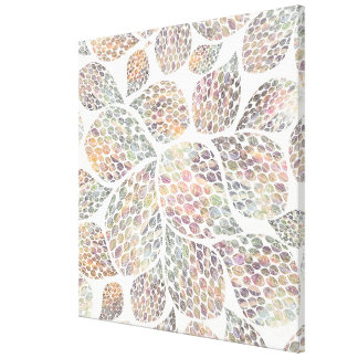 Colourful Leaf Pattern Canvas Print