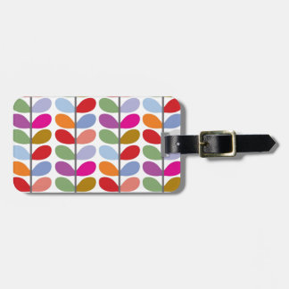 Colourful Leaf Pattern Luggage Tag