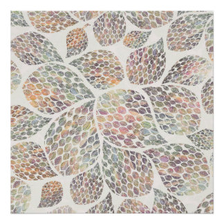 Colourful Leaf Pattern Poster