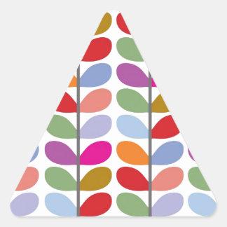 Colourful Leaf Pattern Triangle Sticker