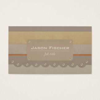 Colourful leather stripes cowboy business card