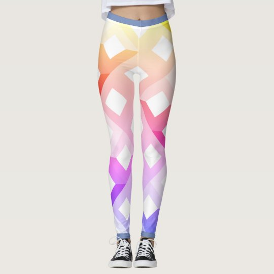 Colourful leggings with geometrical design