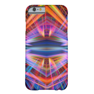 Colourful light beams pattern barely there iPhone 6 case