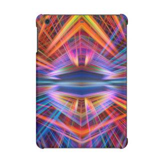 Colourful light beams pattern iPad mini case