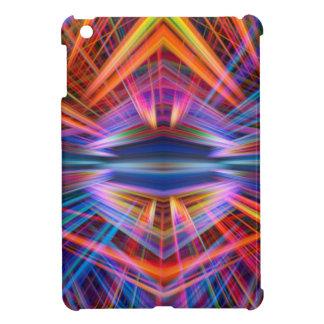 Colourful light beams pattern iPad mini covers